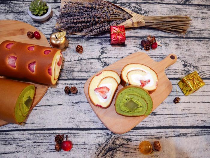 吃一口就被融化的療癒系甜點♥團購冠軍亞尼克生乳捲-鮮採草莓&抹茶蕨餅