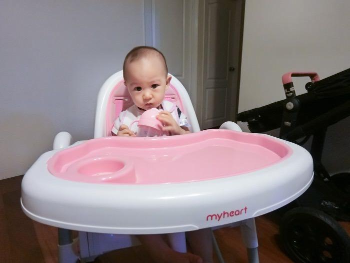 團購│寶寶學習用餐的好幫手-myheart折疊式兒童安全餐椅