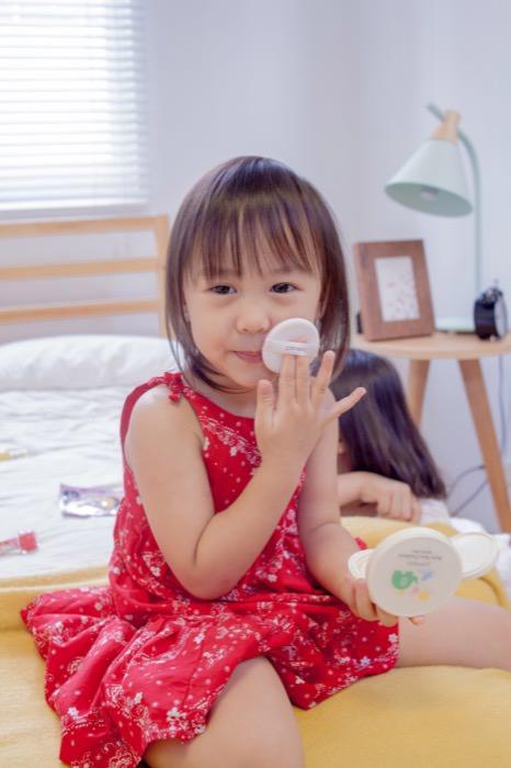 享受和女兒一起化妝的幸福!韓國Primera-寶寶專用防曬氣墊粉餅&gaia兒童美妝