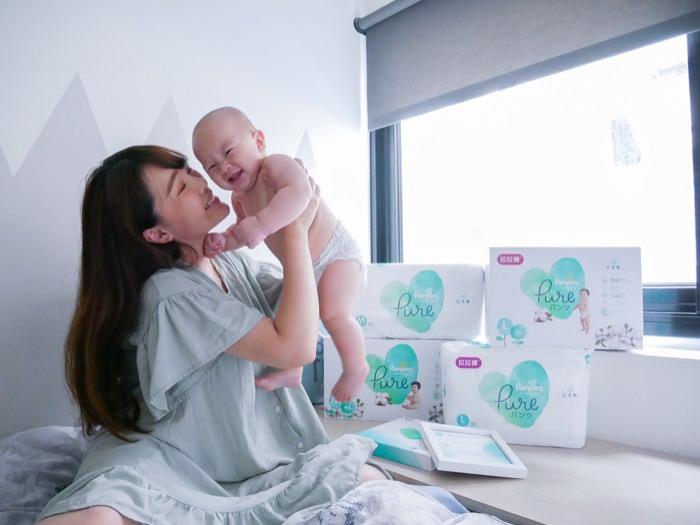 [新生兒送禮首選] 幫寶適Pure有機棉尿布-只想把最珍貴的都給寶寶