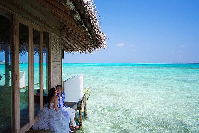 [蜜月] 私奔到馬爾地夫♥海島自助婚紗不求人拍攝分享