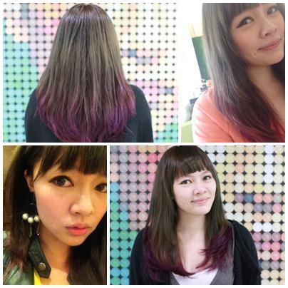 [髮型] 對比漸層染♥人生中第一次漂色就愛上