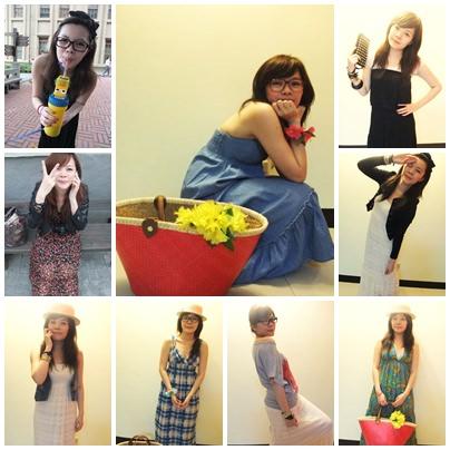 [穿搭] 長洋裝偏執狂-9種穿搭分享